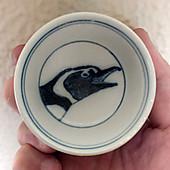 染付小鉢_フンボルトペンギン