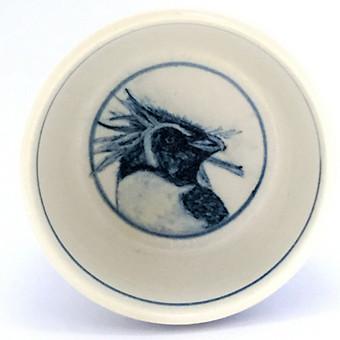 イワトビペンギン染付小鉢