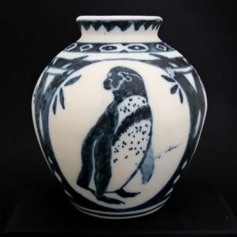 ぺんぎん4面花瓶(成鳥1)