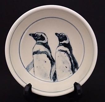 マゼランペンギン染付鉢